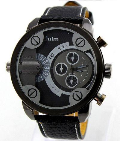 Pánske hodinky Oulm DualNew Black 46f435fb4d