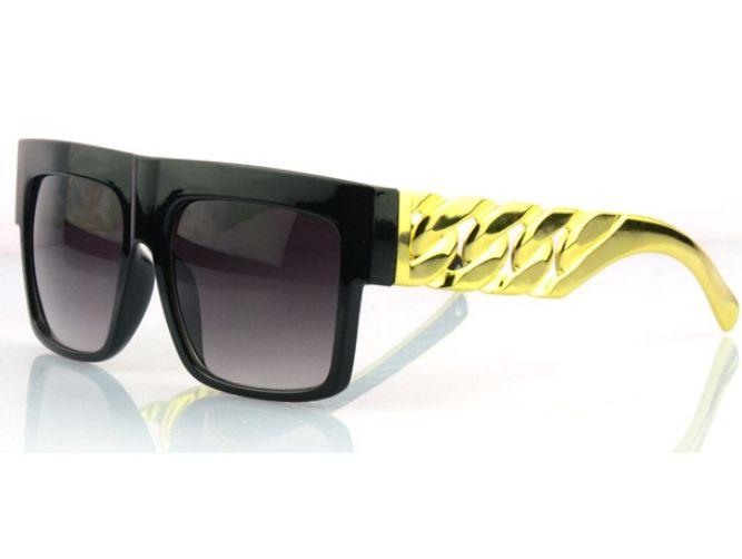Slnečné okuliare PARTY ROCK BIG Chain Gold - čierne 557e506465a