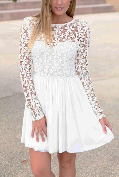 ddf5d6c901cf Biele čipkované šaty