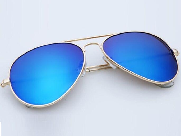 Slnečné okuliare AVIATOR - pilotky zlatý kovový rám modré sklá 9943b2eddf6