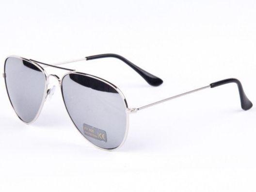 4c206b79f Slnečné okuliare AVIATOR - pilotky strieborný kovový rám zrkadlové sklá