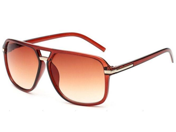 Slnečné okuliare URBAN - hnedé chrom lem empty 7af0a4ee1ed