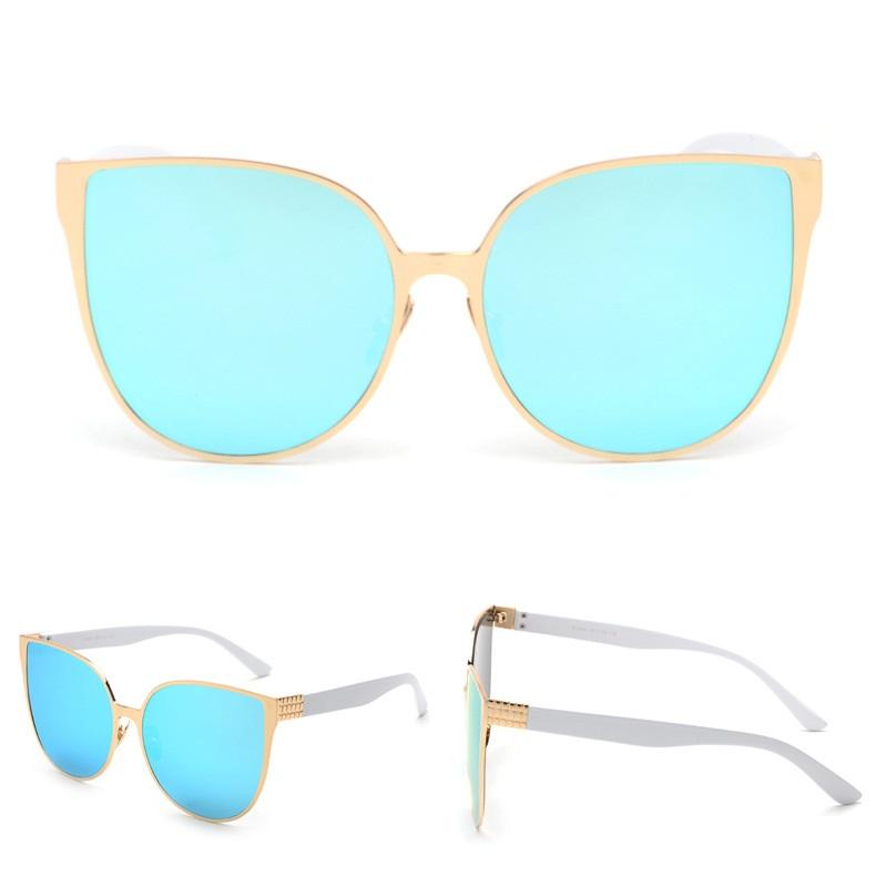 Dámske slnečné okuliare Elegance zlatý rám modré sklá 45ad760d432