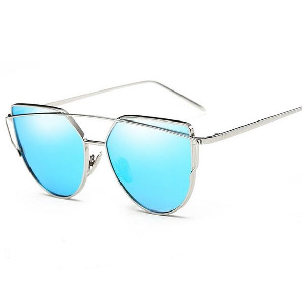 Dámske slnečné okuliare Glam strieborný rám modré sklá b8dd7c1c213
