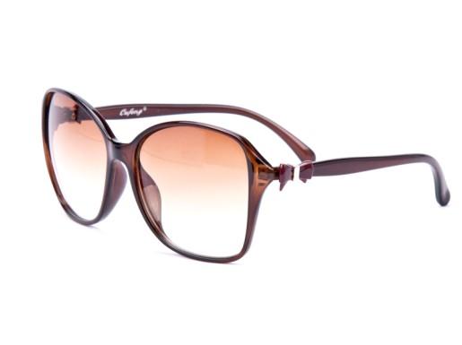 5e44c99aa Slnečné okuliare OVERSIZE - s mašličkou hnedé