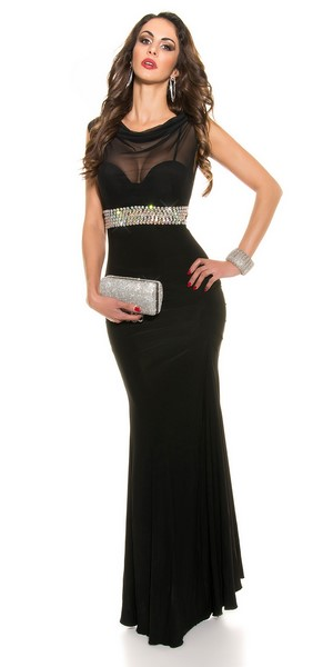 996b7a783bc Dámske spoločenské šaty - čierne