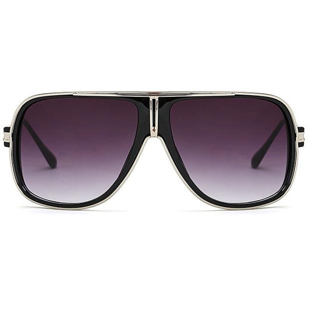 Pánske slnečné okuliare Gomez strieborný rám čierne sklá empty 810cebb403b