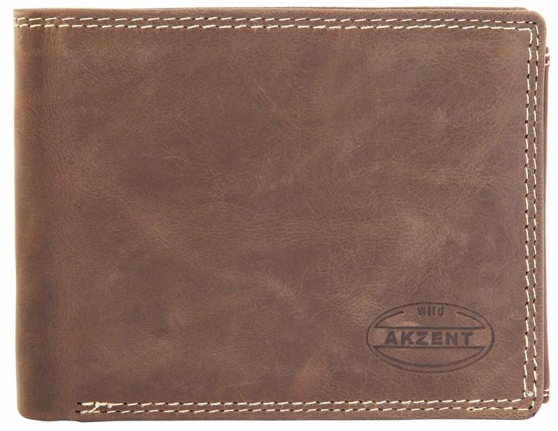 c1b8bc3a0da6 Pánska kožená peňaženka - tmavohnedá
