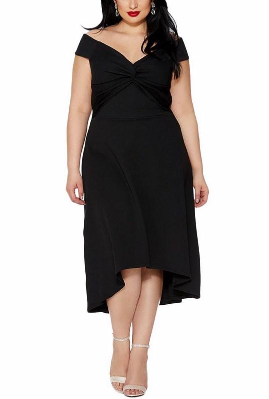 2acddaa8d3a9 Elegantné čierne plus size šaty