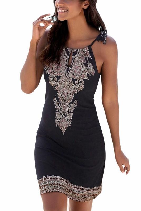 Štýlové dámske šaty - čierne 32853af8440
