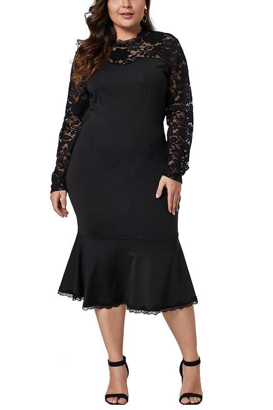 4dad9763d1c4 Čierne dámske plus size šaty