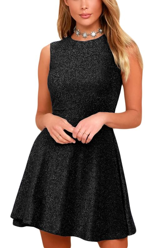 7cf89997a6 Čierne trblietavé dámske šaty