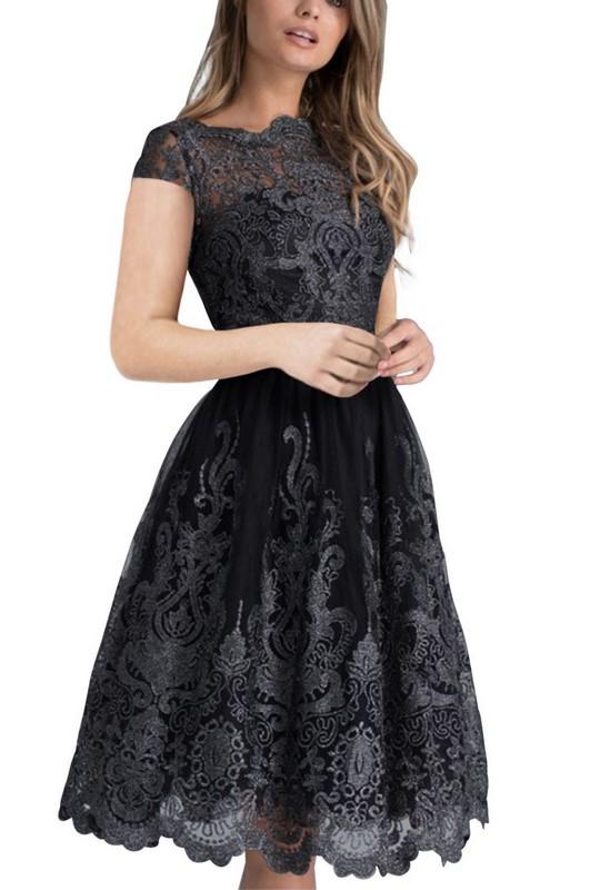 3a41df970bc6 Pôvabné čipkované šaty - čierne