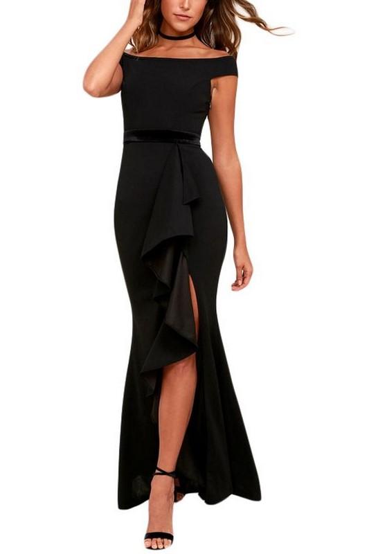 e3fe4607f17b Čierne pôvabné dámske šaty