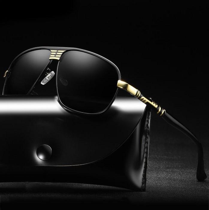 0fefd4741 Polarizačné slnečné okuliare Luis čierne zlaté