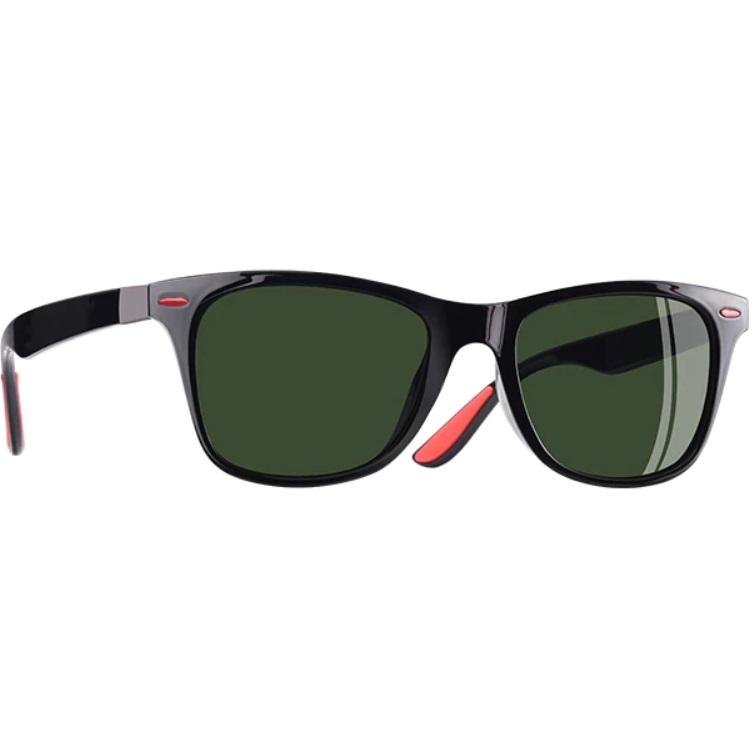 a990da462 Slnečné polarizačné okuliare Wayfarer čierne