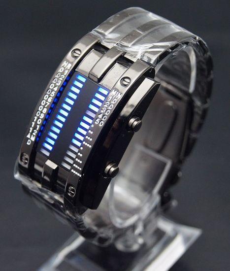 Binárne LED hodinky - Army Black 1d184139605