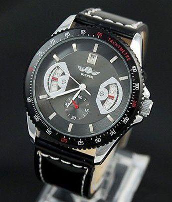 Pánske mechanické hodinky - F1 Black 31681e8cbc5