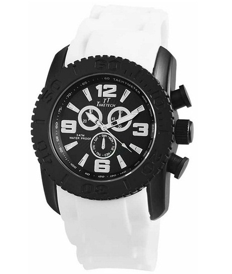 Pánske vodotesné hodinky TimeTech White BL ef769eaf52e