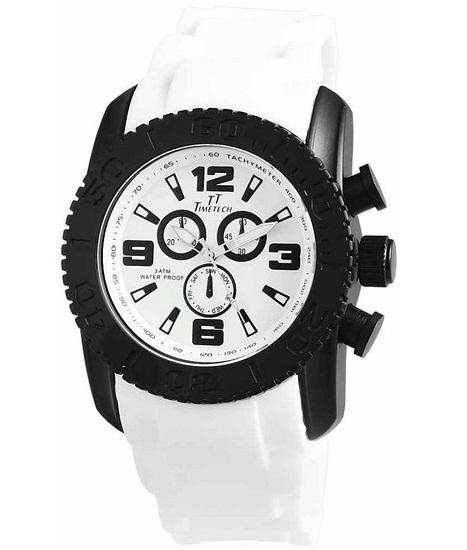 Pánske vodotesné hodinky TimeTech White 21a130ac501