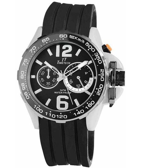 Pánske vodotesné hodinky TimeTech Black a80b9f19ba1