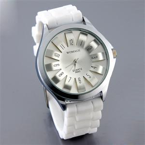 Silikónové hodinky FLOWER 3D biele