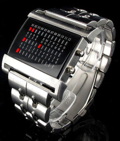 20b974dbf7f9 Pánske kovové LED hodinky Jay Baxter Silver RED