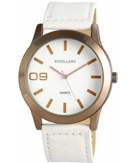 Pánske hodinky Excellanc Elegant Bronz - biele 1bc7d30e98