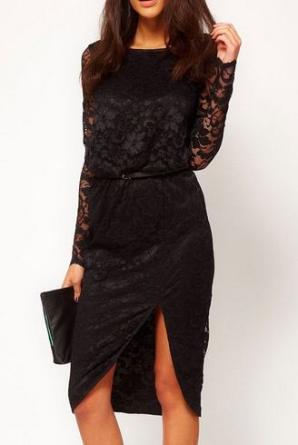 Čipkované šaty Nela - čierne 362a247c6b5