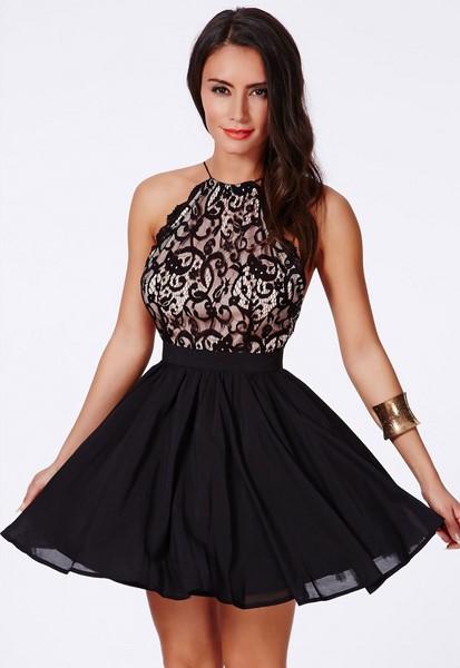 Dámske čierne šaty s čipkou bb0cf579193
