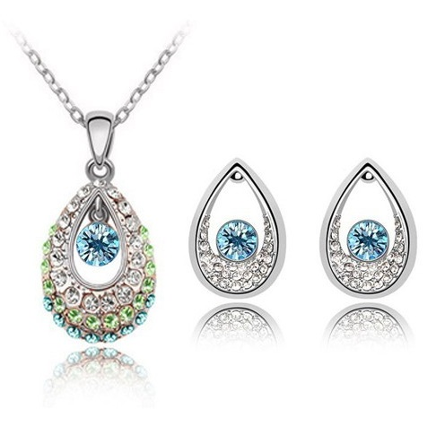 Austrian Crystal SW set Drops - Light Blue