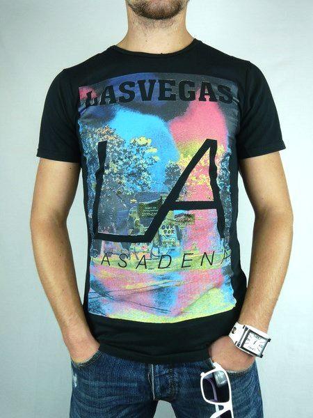 983d3e9fd4 Pánske tričko LA - čierne