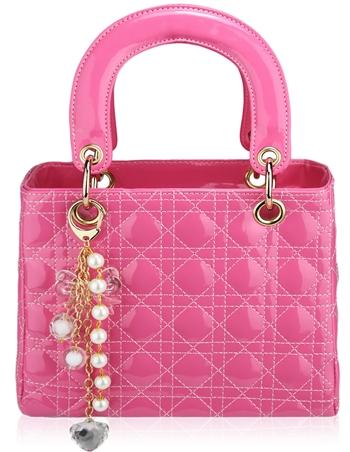 Krásna kabelka ružová v štýle Dior