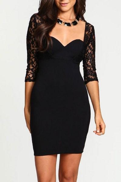 Dámske čipkované šaty - čierne 26cb4c6f857