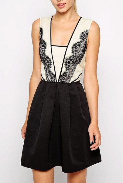 Čiernobiele šaty s čipkou D 76853339b64