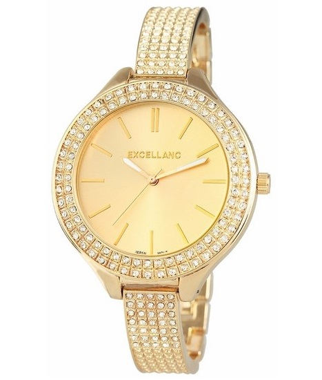 Dámske hodinky Excellanc - zlaté vykladané 5ec25de4c0