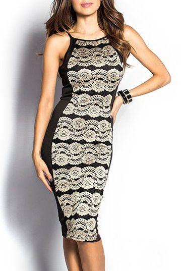 Dámske čipkované šaty - biele čierne D 943815e2588