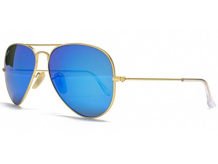 Polarizačné slnečné okuliare AVIATOR - pilotky zlatý rám modré sklá d747ac2bf05