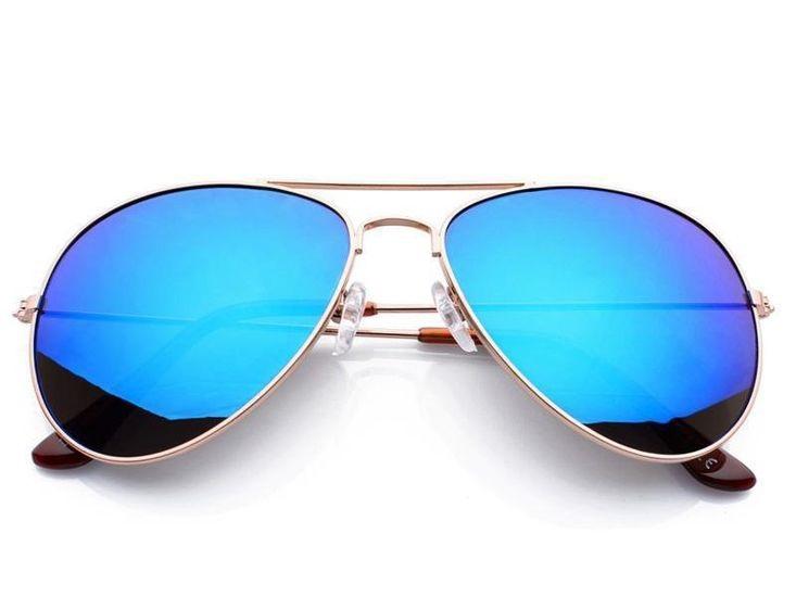 Polarizačné slnečné okuliare AVIATOR - pilotky strieborný rám modré sklá 4de5844fd39