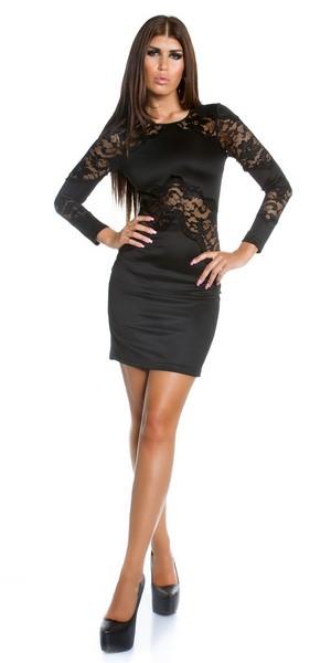 55df02e9192e Trendy čipkované šaty čierne