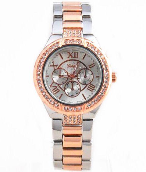 0772ed53f8b Dámske hodinky Geneva - strieborné Rose Gold