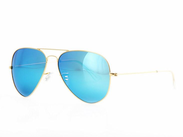 8a27657c3 Polarizačné slnečné okuliare AVIATOR Pilotky - zlatý rám modré sklá