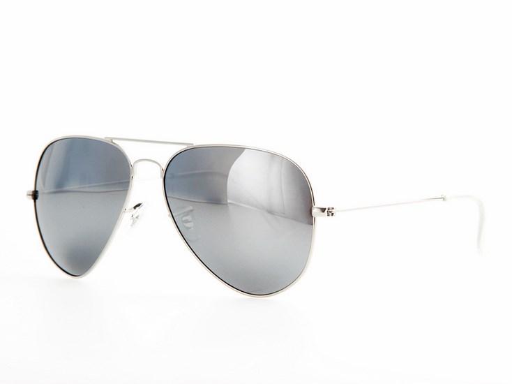 6549dc1b0 Polarizačné slnečné okuliare AVIATOR Pilotky - strieborný rám zrkadlové sklá
