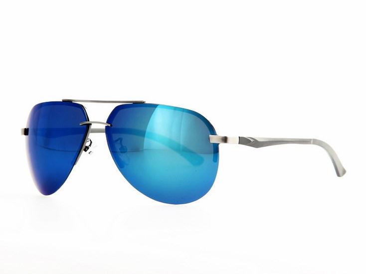 Polarizačné slnečné okuliare AVIATOR Pilotky - strieborný rám modré sklá 95df7c55806