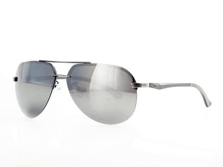 b12186283 Polarizačné slnečné okuliare AVIATOR Pilotky - strieborný rám zrkadlovky