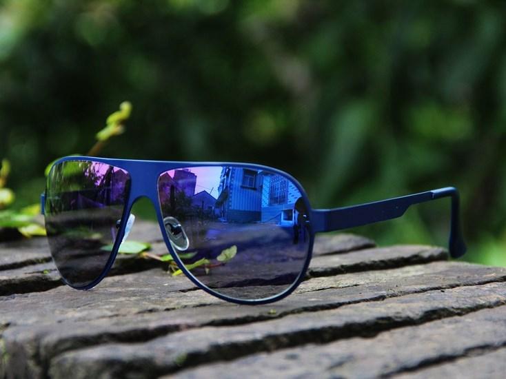 Titánové slnečné okuliare - modré Blue 80bf33a27e7