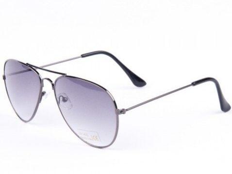 9475d2303 Slnečné okuliare AVIATOR - pilotky čierny kovový rám čierne sklá Gradual