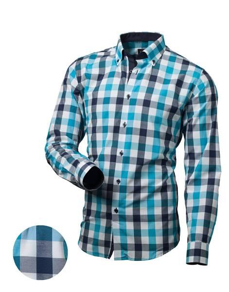 8155cd926769 Pánska košeľa kockovaná modrá