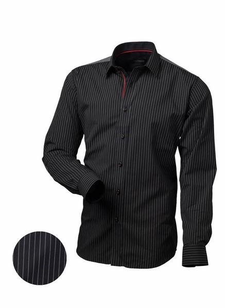 8b82aadb4136 Pánska košeľa pruhovaná čierna