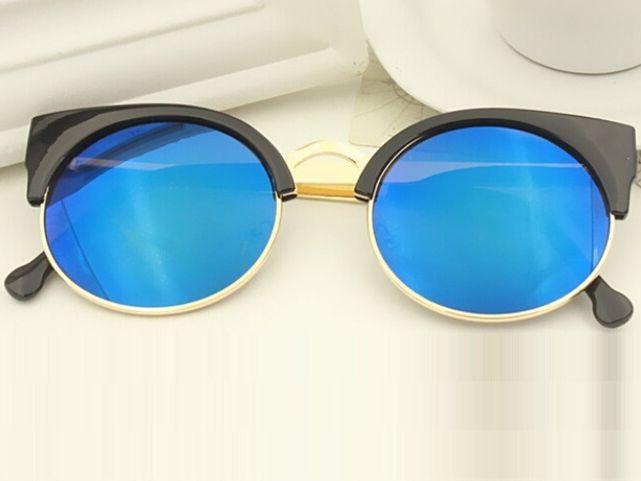 83f3c6159 Dámske slnečné okuliare WAYFARER London - čierny rám modré sklá